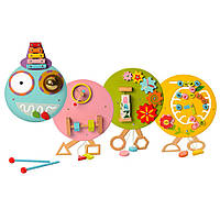Деревянная игрушка Бизиборд MSN17079  гусеница, Wooden Toys