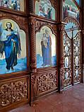 Иконостас резной из дерева, цвет под лак (установлен в Одесской области), фото 6
