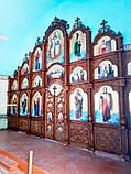 Иконостас резной из дерева, цвет под лак (установлен в Одесской области), фото 4