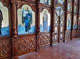 Иконостас резной из дерева, цвет под лак (установлен в Одесской области), фото 8