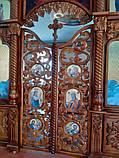 Иконостас резной из дерева, цвет под лак (установлен в Одесской области), фото 5