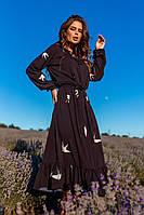 Женское платье миди,ласточки в размере 42-46,48-50.