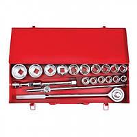 Набор инструмента 3/4', 20 ед (гол. 19-50 мм) металлический кейс INTERTOOL ET-6024