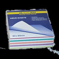 """Блок бумаги для заметок Блок бумаги для заметок """"Радуга"""" 90х90х30 мм несклеенный Buromax BM.2257, фото 1"""