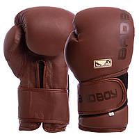 Перчатки боксерские кожаные на липучке BAD BOY LEGACY 2.0 VL-6618-BR