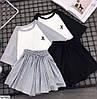 Женский костюм с юбкой-шорты и футболкой оверсайз, фото 2