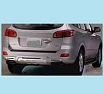Hyundai Santa Fe 2 2006-2012 рр. Задня накладка R008 (пластик)