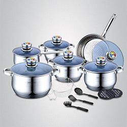 Набор посуды с термодатчиком, фритюрницей и кухонными приборами Royalty Line RL-1801B