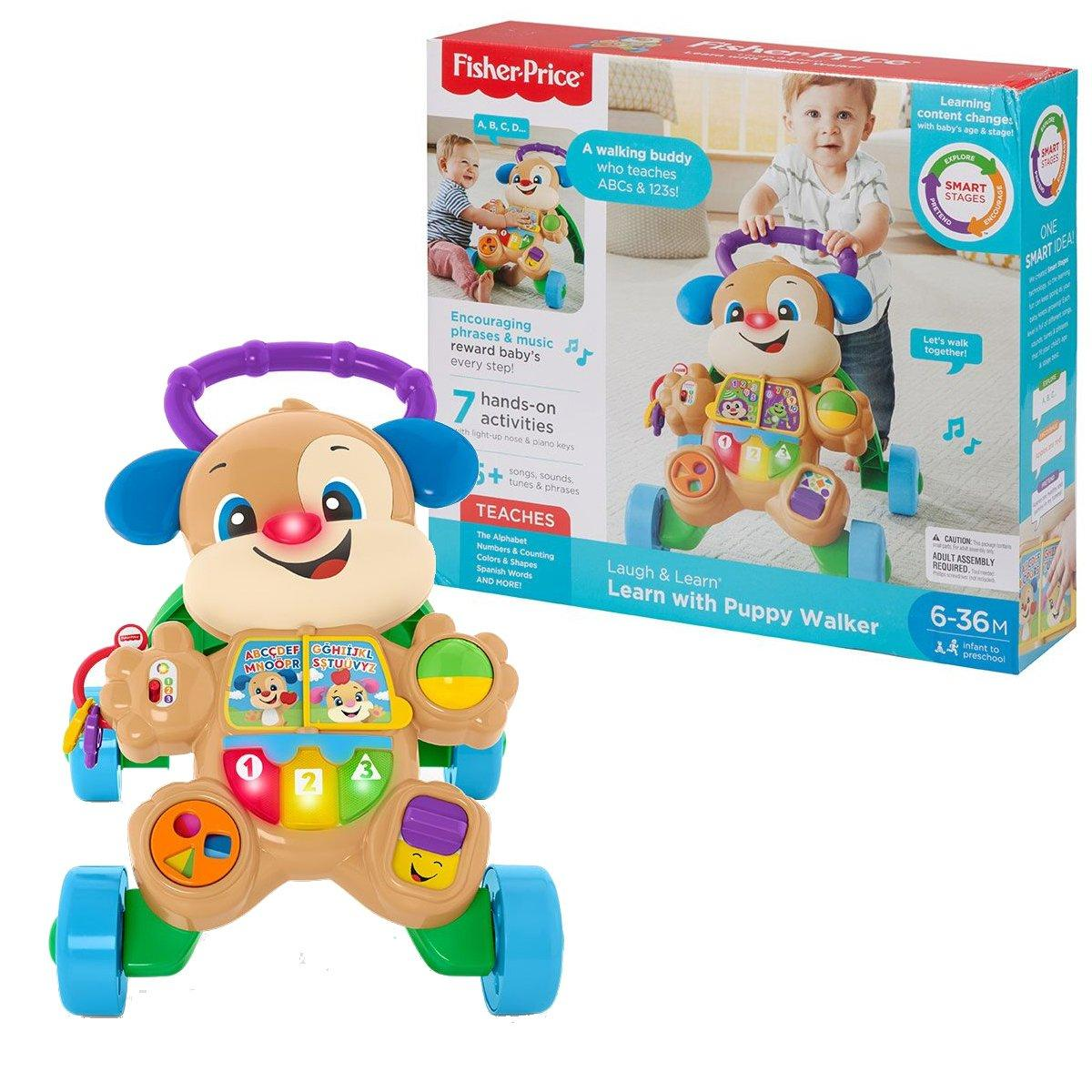 Fisher-Price Ходунки толкатель щенок  Laugh & Learn Smart Stages Learn with Puppy Walker