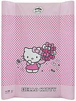 624525 Пеленальная доска Maltex жесткий 50х80 см  hello kitty, розовый