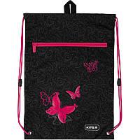 K20-601M-13 Сумка для обуви с карманом KITE 2020 Education Butterfly tale 601M-13, фото 1