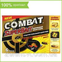 Ловушка для тараканов, муравьев и клопов Combat SuperBait (Комбат) (6 дисков)