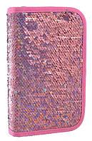 """532421 Пенал твердый  YES  одинарный без клапана """"Sequins"""", 20.5*14*3.5, розовый, фото 1"""