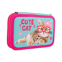 532791 Пенал твердый SMART двойной HP-01 Cute Cat, фото 1