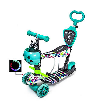 "Самокат Scooter 5in1 ""Tiffany Flowers"""