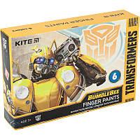 TF20-064 Краски пальчиковые KITE 2020 Transformers 064, 6 цветов, фото 1