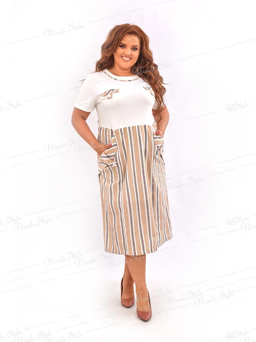 Повседневное льняное платье  468-1 54