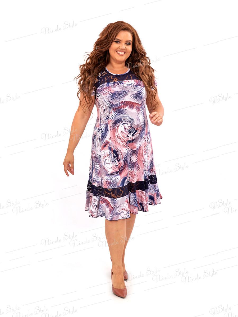 Повседневное женское платье с воланом 466-1 56