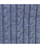 Плед Soft коси Синій меланж 90х130 SKL58-252222, фото 3
