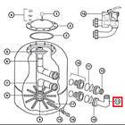 Hayward Муфта колено Hayward NCX2312063 для фильтра NC d780-900 мм, фото 2