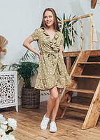 Женское летнее модное платье Эми Marca Moderna оливковое в горошек