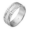 Серебряное обручальное кольцо 16.5