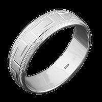 Серебряное обручальное кольцо 17.5