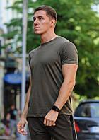 Оливковая (хаки) мужская футболка, фото 1