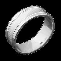 Серебряное обручальное кольцо 22.5