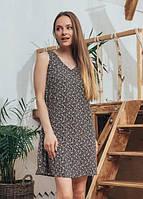 Женское летнее легкое платье Ирина Marca Moderna черное с принтом