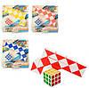 Игра T886-1 (144шт) головоломка, змейка, кубик 3,5-3,5см, 4цвета, в слюде, 18,5-21,5-4см