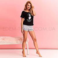 Пижама футболка и короткие шорты Taro Gabi 2362, Черный, S