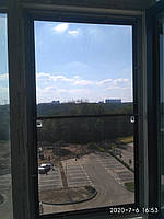 Сетка на окна - Антикошка нержавеющая сталь цвет профиля коричневый
