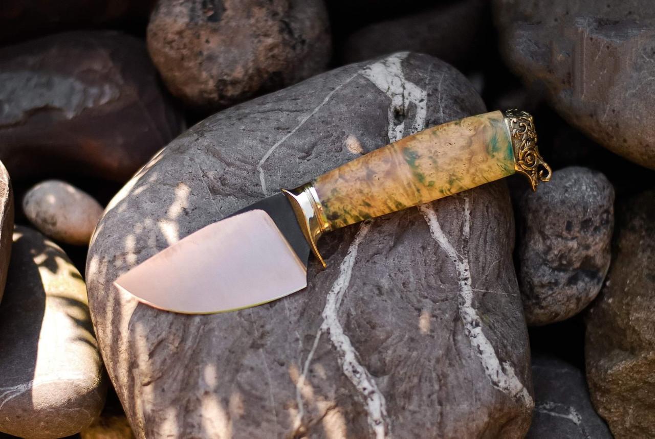 """Шкуросъемный нож ручной работы """"Скинер кленовый"""", N690"""