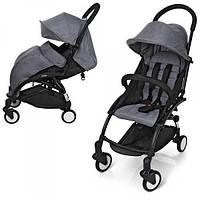 Детская прогулочная коляска   для мальчика или девочки El Camino YOGA  M 3548-11 Серый