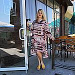 Платье оверсайз Бохо шелк  48-56, пастель акварель, фото 2