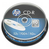 Диск CD HP CD-R 700MB 52X 25шт Spindle (69311)