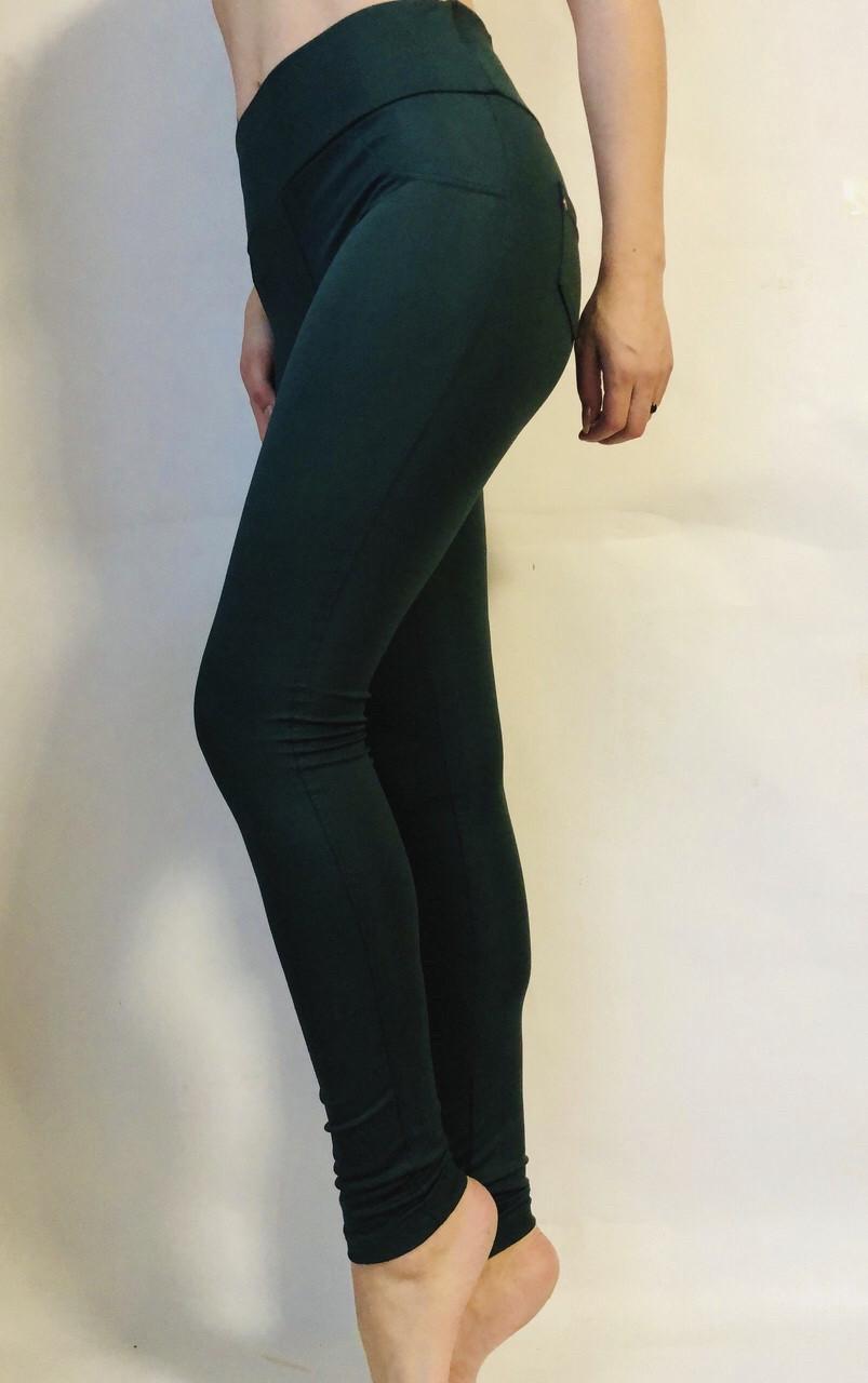 Классические женские лосины  (батал)№10 зелёный