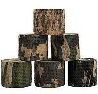 Маскировочная камуфляжная лента (лесной камуфляж), фото 1