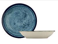 Тарелка фарфоровая глубокая Corendon NanoKrem Blue 21 см