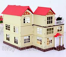 """Домик с мебелью HAPPY FAMILY для зверюшек, """"Загородный дом"""", 2 этажа, 65*34*17 см, 012-10, фото 2"""