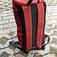 Рюкзак  Мужской красный-черный, Рюкзак для ноутбука, фото 5