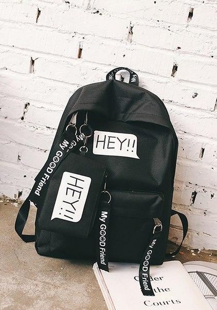 Модный тканевый рюкзак Hey с пеналом
