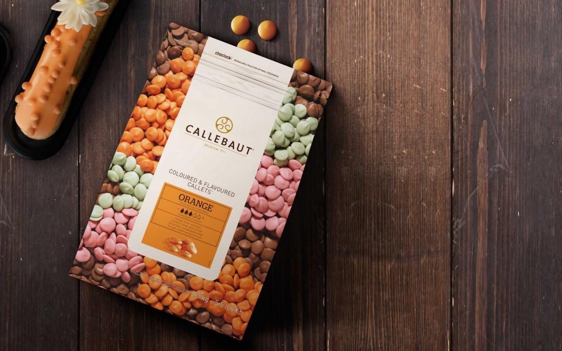 """Шоколад  со вкусом апельсина """"Callebaut Orange Callets"""" каллеты 100 грамм (РАЗВЕС)"""