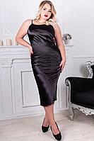 Черное платье большого размера Роксолана