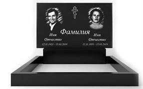 Подвійний пам'ятник з граніту (100-60-8) РВ-01