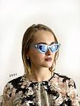 Модные голубые ретро-очки, фото 2