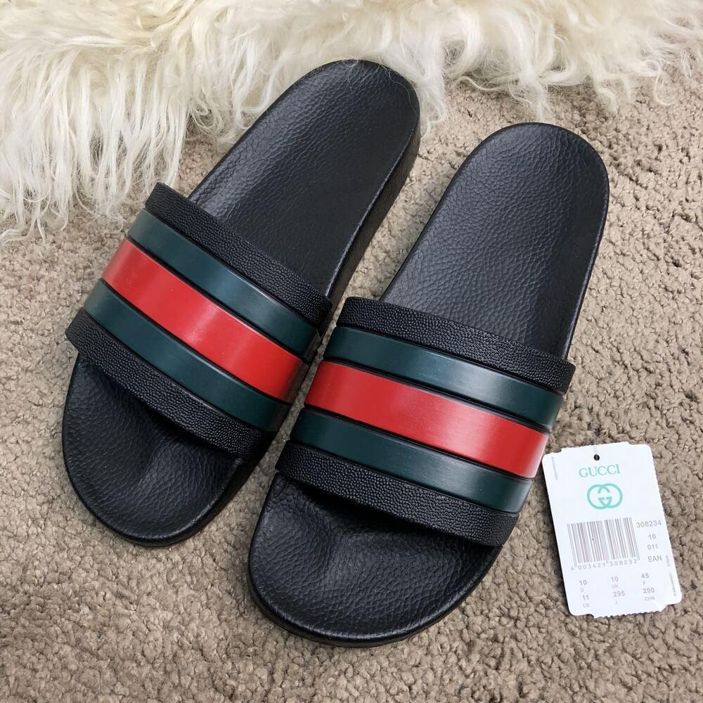 Gucci Web Slide Sandal Black Rubber