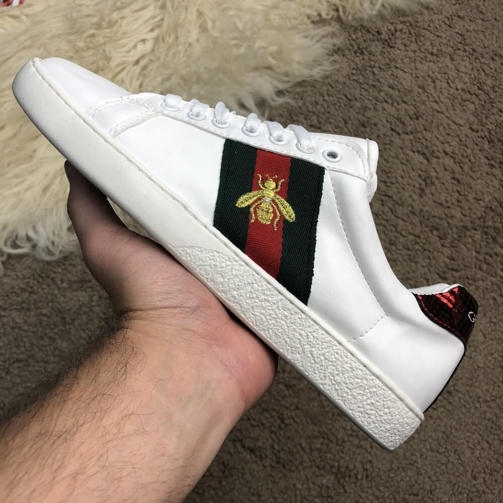 Gucci Ace Embroidered Sneaker White