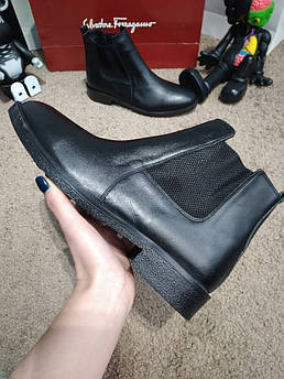 Zara Classic Leather Boots Black